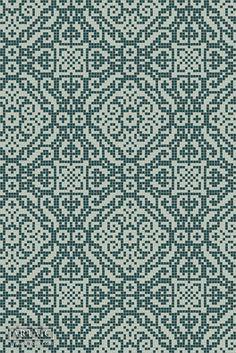 Metza Dark Harbor Tile Pattern from Artaic's Ornamental & Damask mosaic… Fair Isle Knitting Patterns, Knitting Charts, Knitting Stitches, Needlepoint Patterns, Tile Patterns, Cross Stitch Embroidery, Cross Stitch Patterns, Dark Harbor, Fair Isle Chart