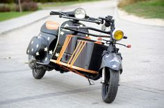 motofocker cargo-scooter blends delivery truck  and the enclosed version is very blade runner-esque