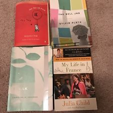 Book Lot: The Bell Jar, Speak, My Life In France, The Tao Of Pooh