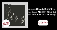PIN TO WIN NEEDTOBREATHE's new album, HARDLOVE, on vinyl!