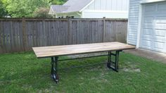 Check out this item in my Etsy shop https://www.etsy.com/listing/240789645/large-table-can-be-a-conference-table-or