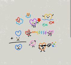Bff Tattoos, Dainty Tattoos, Mini Tattoos, Small Tattoos, Tan Tattoo, Doodle Tattoo, Doodle Art, Small Colorful Tattoos, Indie Tattoo