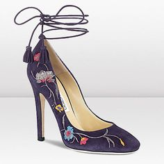 Cedar Suede And Embroidered Pumps With A Flowery Folk Limited Edition Jimmy Choo Free Shipping Finest Materials High-end