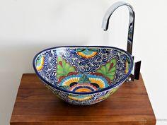 Mexico - MEX 7 Aufsatzwaschbecken oval aus Mexiko von Mexambiente