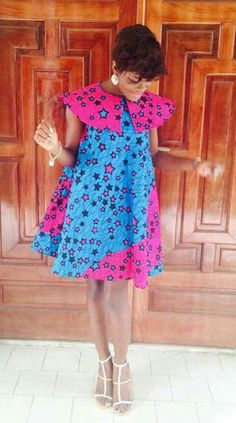 Ankara Xclusive: Latest African Ankara Maternity Gowns & Dresses Styles for Pregnant Ladies Nigeria Short African Dresses, Latest African Fashion Dresses, African Print Dresses, African Print Fashion, Africa Fashion, African Wear, African Attire, African Women, African Prints