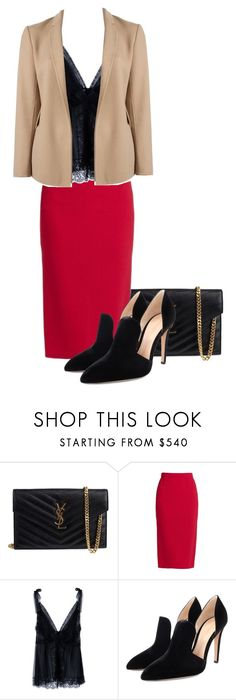 """""""Patty"""" by elisabetta-negro ❤ liked on Polyvore featuring Yves Saint Laurent, Roland Mouret, Dolce&Gabbana, Gianvito Rossi and Theory"""