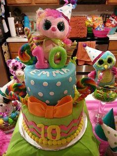 Beanie Boo Birthday Party.    Cake by Martha Jones