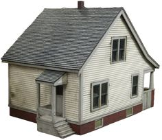 American Wood Architectural Model of a House, C.1930