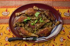 NYT Cooking: Curried Duck Legs With Ginger and Rhubarb
