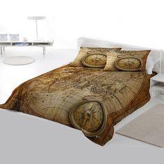Vintage world map bedding antique map of the world 1752 duvet cover steampunk bedding set old world navigation king size duvet set gumiabroncs Gallery