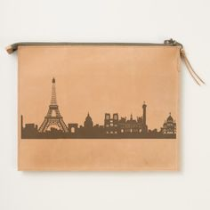 """Paris"" Leather Travel Pouch is perfect for the traveler! May be personalized! The Adventure Collection developed in collaboration with Ubuntu Made, empowering Kenyan women to build stronger communities through sustainable businesses."