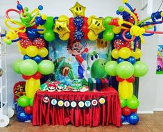 "Inspiração Fest on Instagram: ""#REPOST @shaddaiparty MARIO BROSS #mariobros #mariobrospartytheme #mariobrosparty #shaddaipartyplace #shaddaidecor #brownsvilleparty…"" Mario Birthday Party, Boy Birthday Parties, Balloon Arch, Balloons, Mario Bros., String Of Pearls, Ideas Para, Party Ideas, Baby Shower"