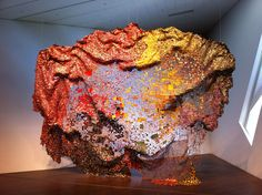 """El Anatsui's """"Stressed World"""" at the Denver Art Museum"""