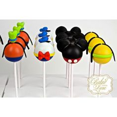 Mickey Mouse Clubhouse inspired cake pops ❤️ #mickeymouseclubhouse…