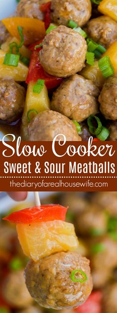 Slow Cooker Sweet and Sour Meatballs. YOU HAVE TO TRY!! These are so good. Served at Thanksgiving and again for super bowl!