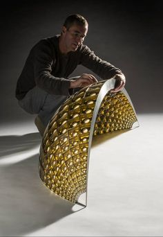 Queanbeyan glass artist Matt Curtis has been awarded the inaugural Canberra Glassworks Creative Fellowship Photo: Rob Little. Kiln Formed Glass, Cast Glass, Spirited Art, Unusual Art, Op Art, Glass Design, Metal Art, Fused Glass, Crystals