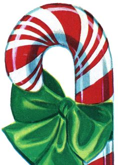 Free Vintage Christmas Clip Art – Candy Cane