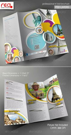 tri fold brochure template travel agency free | ... travel agency trifold brochure template print templates brochures
