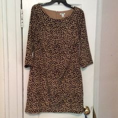 Old Navy Leopard Print Dress Super cute for all seasons, especially with boots! Old Navy, size Medium. Sleeves come right above wrists, not bell sleeves. Comes to right above knee. Great condition! No tears or stains. Old Navy Dresses Long Sleeve