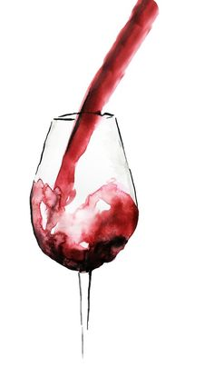 Fine art print from original watercolour painting. Print size: (different sizes available, price on request) Print finish: Pearl Abstract Watercolor, Watercolour Painting, Painting & Drawing, Wine Painting, Watercolor Paintings For Beginners, Mini Canvas Art, Wine Art, Art Drawings Sketches, Pouring Wine