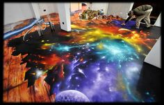 Graffiti Decoration Space floor marbelized by Graffiti-decoration.deviantart.com on @deviantART - Holy Cannoli!