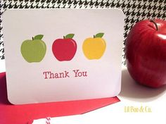 They would be great to attach to a gift with a message expressing your thanks or they would also be great to give as a blank set of note cards to your child's teacher for their own personal use throughout the year – just print off a few copies & pair them with envelopes to create a note card set. From our post 20 Last Minute Handmade Teacher's Day Card ideas- Free, printable and personalized thank-you cards that kids can make and Teachers will love! Perfect for National Teacher Appreciation…