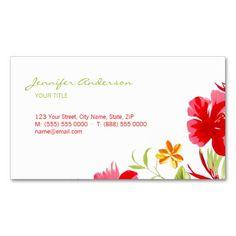 Tropical Hibiscus Florist business card