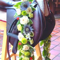 Unique decor - saddle and flower garland