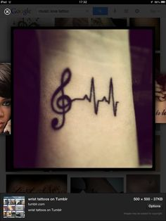 Two major aspects to my life music and nursing this would be a good tattoo.... Just need the courage to do it