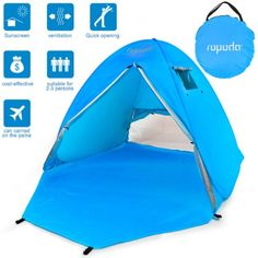 ROPODA Beach Tent, Portable Pop up Sun Shelter-Automatic Instant Family UV Person Canopy Tent for Camping,Fishing,Hiking,Picnicing-Outdoor Ultralight Canopy Cabana Tents with Carry Bag Baby Beach Tent, Baby Tent, Pop Up Beach Tent, Beach Cabana, Beach Canopy, Canopy Tent, Tents, Canopies, Sun Shade Canopy