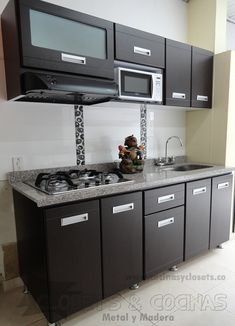 Kitchen interior apartment cabinets for 2019 Kitchen Modular, Modern Kitchen Cabinets, Kitchen Tiles, Apartment Kitchen, Home Decor Kitchen, Kitchen Interior, Kitchen Cupboard Designs, Mini Kitchen, Kitchenette