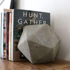 DIY Geometric Concrete Bookends
