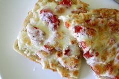 Favorite Lunch: Cheesy Tomato Bread ~ EASY and simple and quick! YUM!