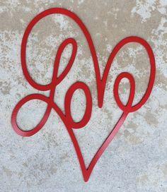Valentine& Day Decoration - Plasma Cut Metal Heart with LOVE by MyMetalWork. Valentines Day Decorations, Valentine Day Crafts, Funny Valentine, Be My Valentine, Valentines Design, Heart Decorations, Metal Tree Wall Art, Metal Art, Decoration St Valentin