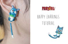 DIY Happy Fake Gauge Earrings Polymer Clay Tutorial | Fairy Tail