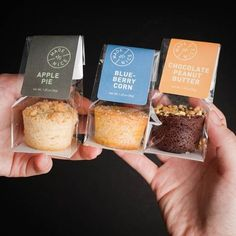 Add a little bite to your life, do not forget to pick one (or three) of our freshly baked Nice bites! 🥧 Add a little bite to your life, do not forget to pick one (or three) of our freshly baked Nice bites! Brownie Packaging, Cupcake Packaging, Dessert Packaging, Bakery Packaging, Food Packaging Design, Cupcakes Packaging Ideas, Food Branding, Bag Packaging, Cafe Food