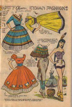 Katy Keene paper doll cowgirl and Indian / eBay http://www.pinterest.com/ejswaim/paper-dolls/