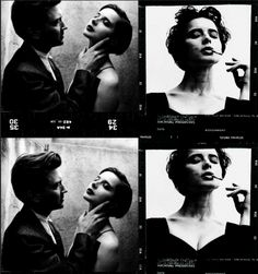 David Lynch and Isabella Rossellini by Helmut Newton