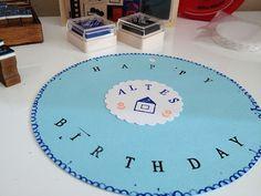 DIY Geburtstagskarte Stempel