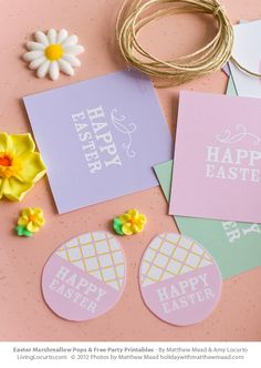 Free Printable Easter Tags by LivingLocurto.com