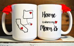 HOME is where My MOM is mug State to State Long by BabyCakeLane