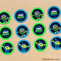 FREE Printable Toy Story Buzz Lightyear Cupcake Toppers