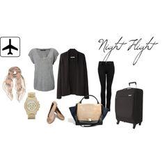 Night flight, created by amandavmulyana on Polyvore