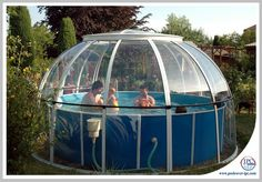 Gallery of hot tub enclosure Spa Dome Orlando installations - high quality retractable hot tub enclosure Swimming Pool Enclosures, Tub Enclosures, Swimming Pools Backyard, Pool Landscaping, Stock Pools, Stock Tank Pool, Hot Tub Gazebo, Hot Tub Deck, Whirlpool Deck