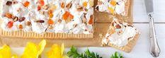 Mazurek kajmakowy z bakaliami - Fotokulinarnie 20 Min, Feta, Sushi, Bread, Brot, Baking, Breads, Buns, Sushi Rolls