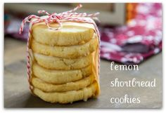 These easy Lemon Shortbread cookies have a wonderful flavor and are buttery and melt in your mouth. Bake these Lemon Shortbread Cookies for the holidays or anytime! Lemon Desserts, Lemon Recipes, Cookie Desserts, Just Desserts, Sweet Recipes, Baking Recipes, Cookie Recipes, Dessert Recipes, Cookie Tray