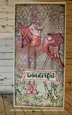 F4A312 You are wonderful by susie australia - Cards and Paper Crafts at Splitcoaststampers