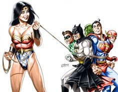 Wonder Woman toys with the Justice League