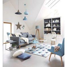 Photo de canapé gris moderne et cocooning avec une décoration épurée et design → touslescanapes.com