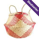 Collapsible Basket, Red and Natural Check $16.95 Oxfam Shop
